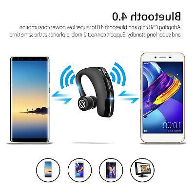 Wireless Headphone Trucker Headset Earpiece Earbud For
