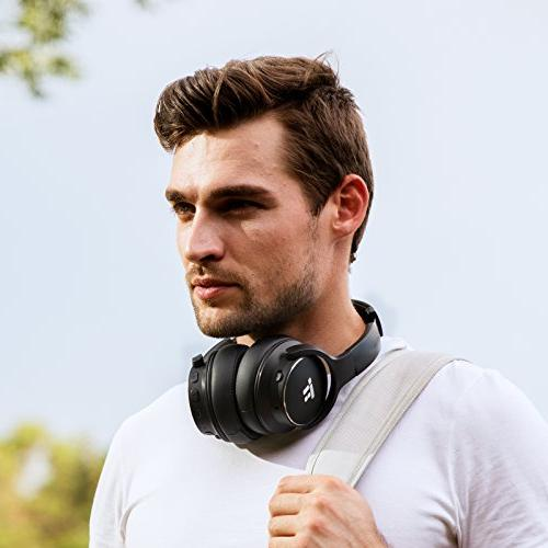TaoTronics Noise Bluetooth HiFi Wireless Bass Headset Noise Canceling Microphone 30 Hour Playtime Comfortable Travel
