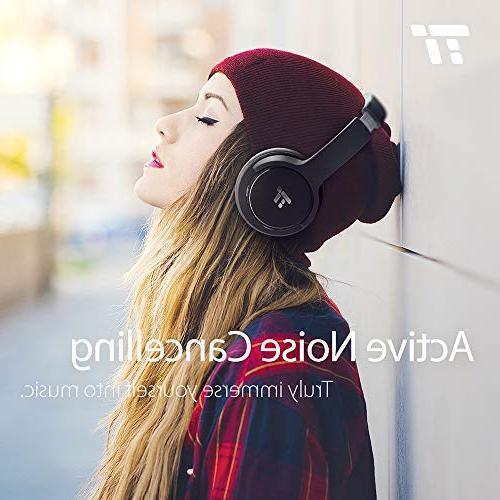 TaoTronics Bluetooth HiFi Wireless Over Ear Bass w/CVC Noise Canceling 30 Hour Playtime Travel
