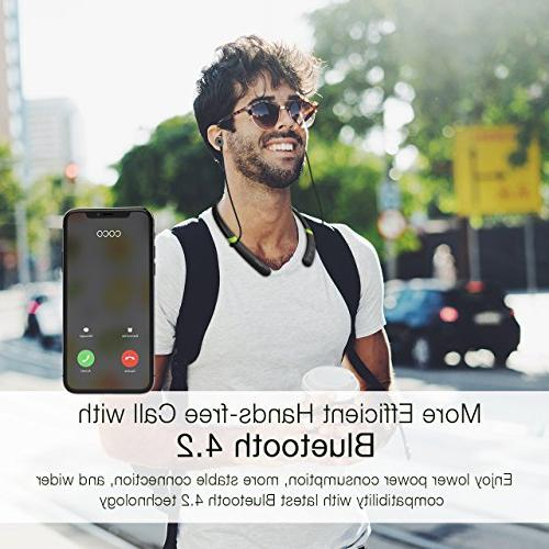 Mpow Bluetooth Bluetooth Neckband Headset, Sports Headphones,