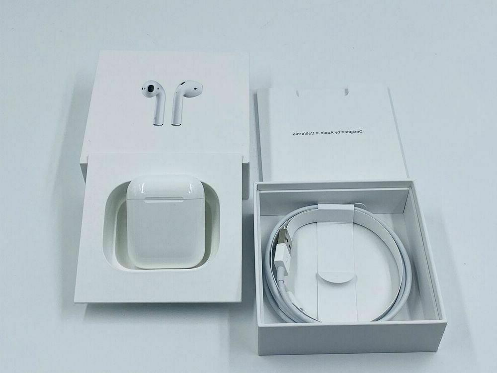 airpods 2nd generation wireless earbuds and charging