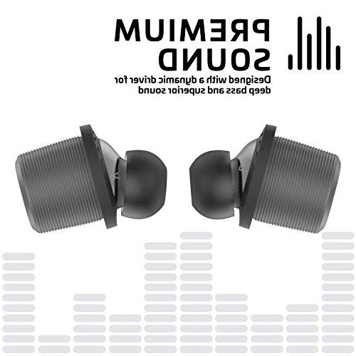 Rowkin Wireless Earbuds Hours Bluetooth 5 Earphones USB-C Case. Deep Bass Mic & Noise Reduction for iPhone