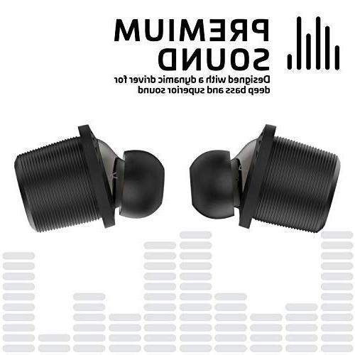 Rowkin Charge Wireless Earbuds 50+ Hours, Bluetooth 5 Earphones Case. Bass Sound Headset Mic & Reduction Android