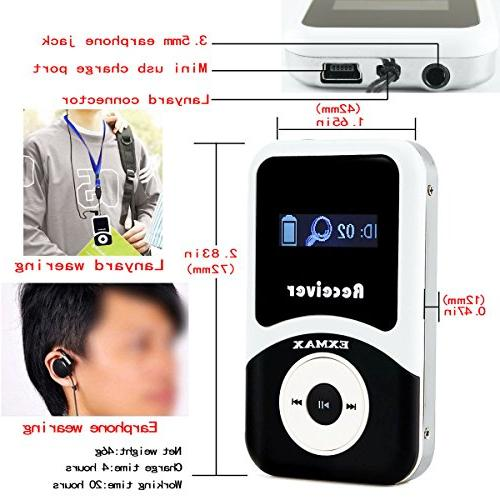 EXMAX 72-76MHz Wireless Tour Guide Monitoring System Microphone Earphone Church Square Dance Field