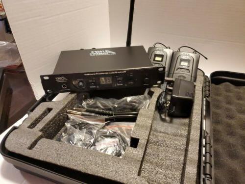 Audio2000'S AWM6305U Monitor System IEM W/ 2 RECEIVERS openbx