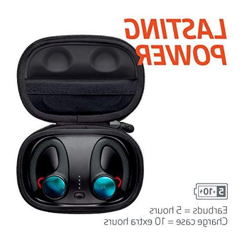True Wireless Earbuds, Sweatproof and Waterproof in Ear Workout Headphones,