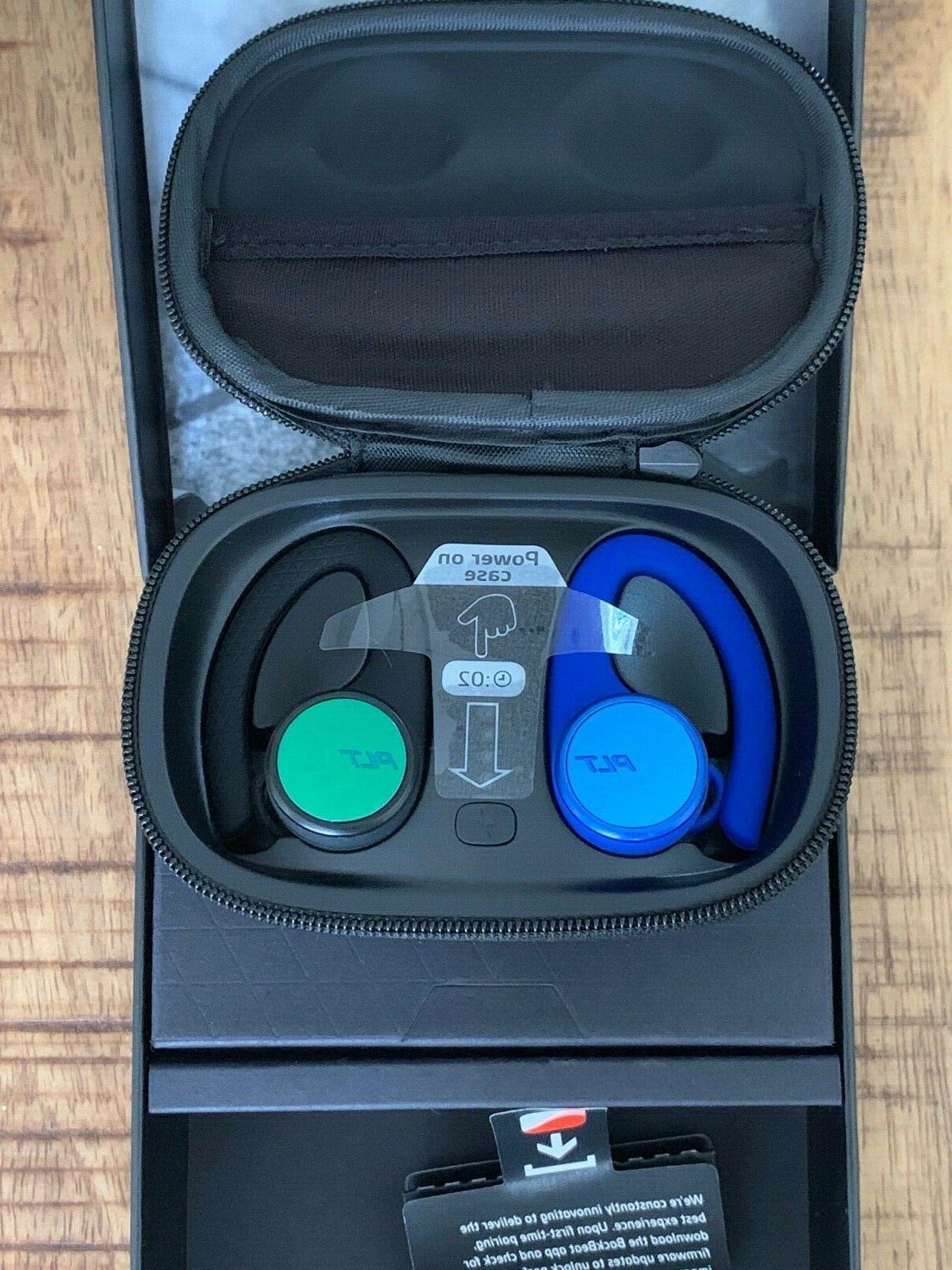 Plantronics BackBeat Fit True Wireless Sport Earbuds Black-Blue