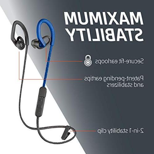 Plantronics BackBeat Wireless Sweatproof Workout Headphones, Black
