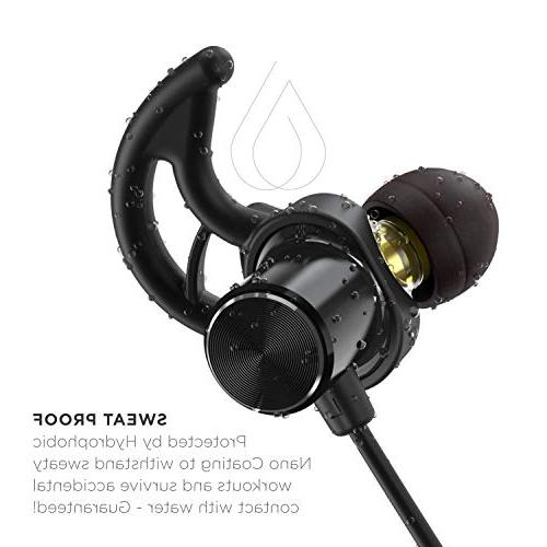 with Graphene and AptX Bluetooth Sport Headset Mic and Guarantee for Running,