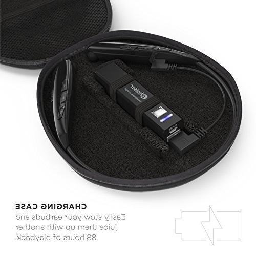 Phaiser with Charging Case, Neckband with Wirefree Sweatproof Wireless Portable Headset,