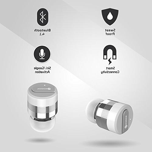 Rowkin Stereo: True Case. Headphones Cordless Hands-Free Earphones Headset Noise Reduction iPhone