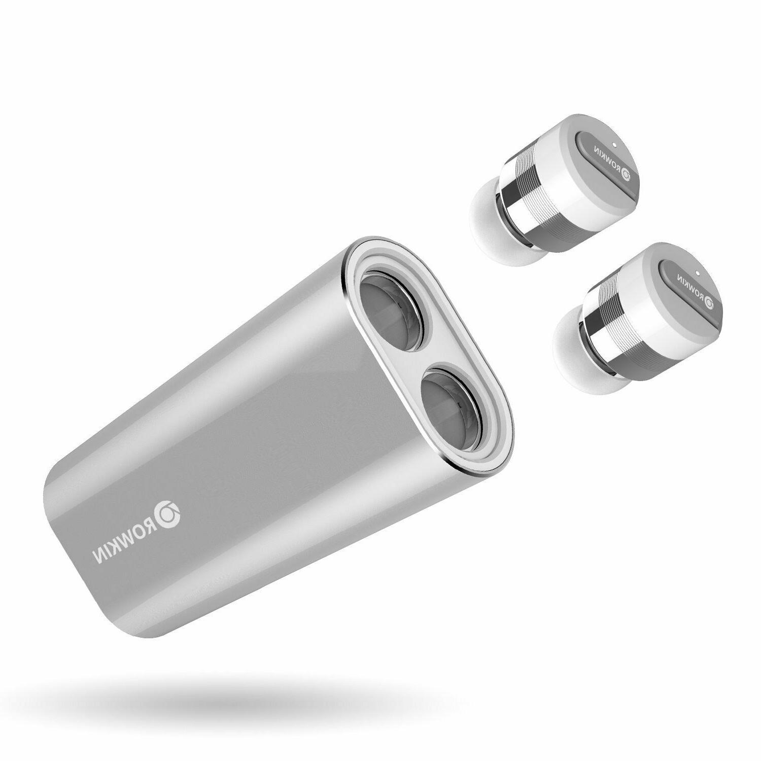 Rowkin Stereo: True Earbuds Case. Bluetooth Headphones Cordless Hands-Free Headset & Reduction for iPhone