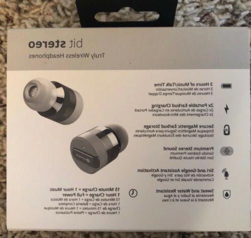 Rowkin Bit Stereo Headphones, Wireless Silver