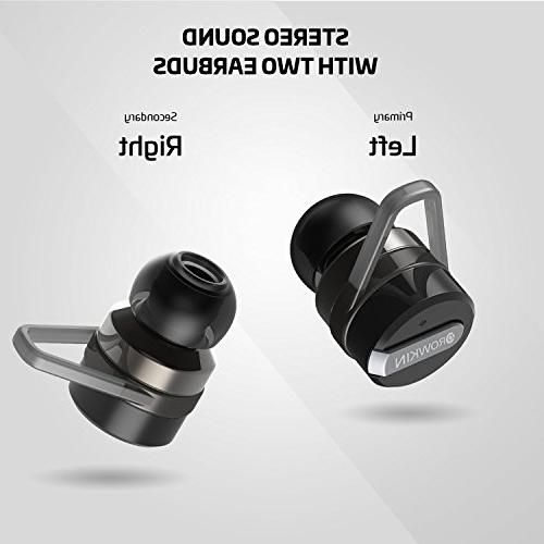 Rowkin Bit Stereo True Wireless Case. Headphones, Hands-Free in-Ear Earphones w/Mic & Noise Reduction for Android