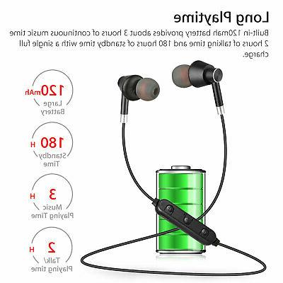 Bluetooth 4.1 Wireless Magnetic Sports Gym Headset