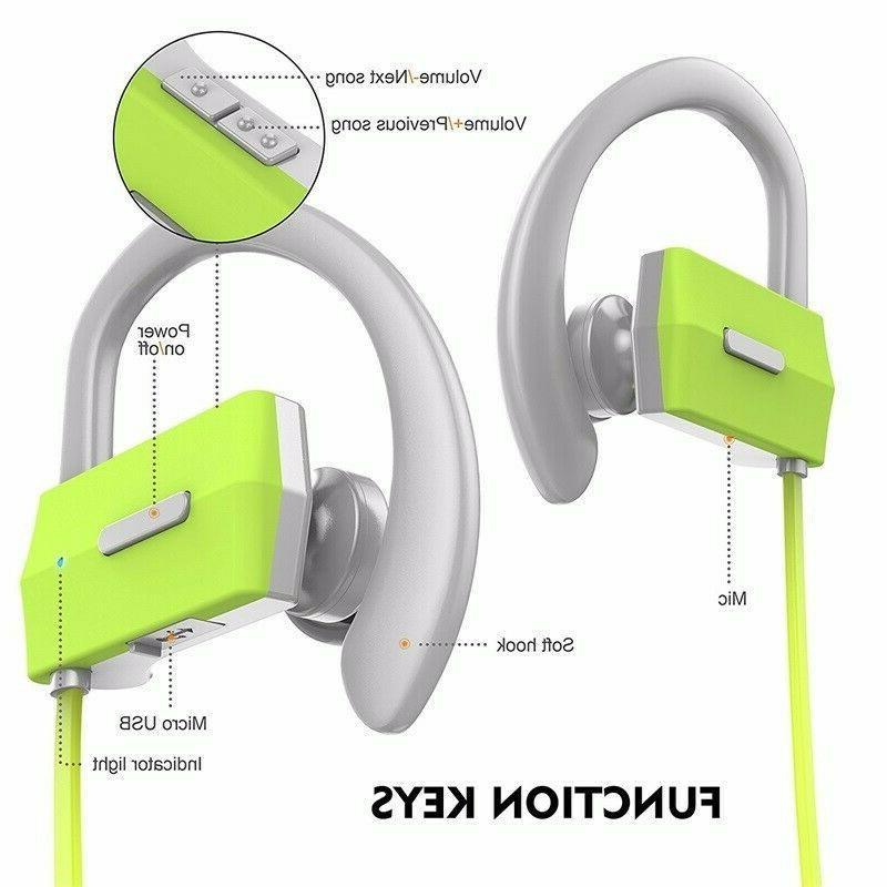 Bluetooth 4.1 Wireless IPX4 Headset w/ Mic