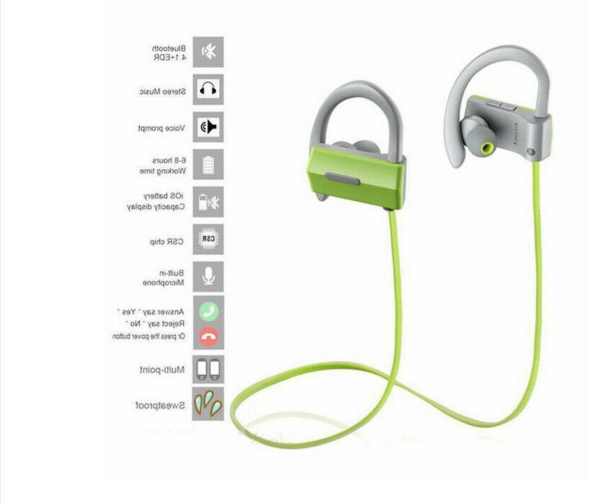 Bluetooth Earbuds IPX4 Headphones Sports Headset w/