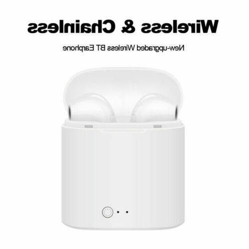 Bluetooth 4.2 Wireless i7 Earbuds In Ear Earphone Charger Box