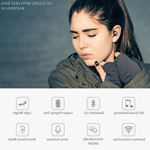 Bluetooth True Wireless Sports Wireless Sweat Proof Microphone Running, Gift Box