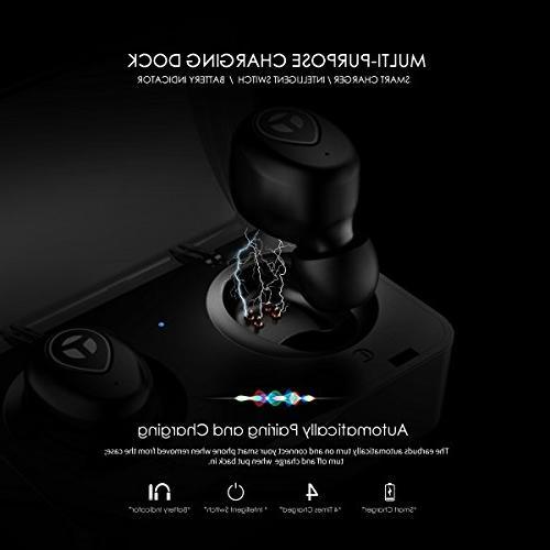 Bluetooth 5.0 Bass True Wireless Headphones, Sports Earbuds, Proof Microphone Running,