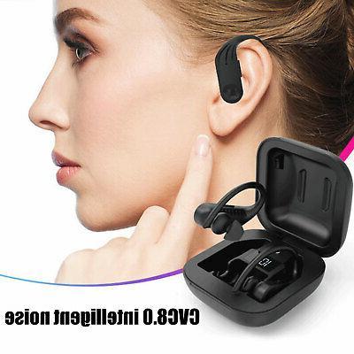 TWS Bluetooth Wireless Earhook HiFi Sports Earphones Headsets