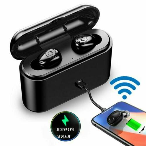 waterproof bluetooth 5 0 earbuds true wireless headset deep. Black Bedroom Furniture Sets. Home Design Ideas