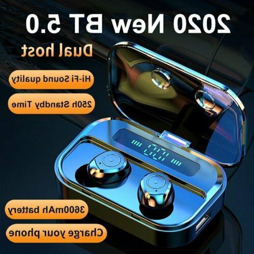 Bluetooth 5.0 TWS Wireless Headset Earbuds Earphones Mini St