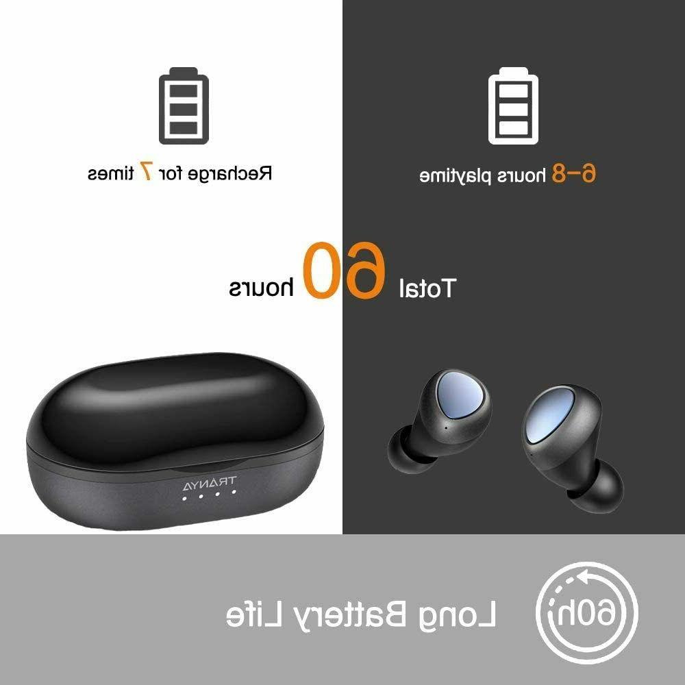 Tranya Sports Bluetooth 5.0 Bass Wireless Built-in IPX5