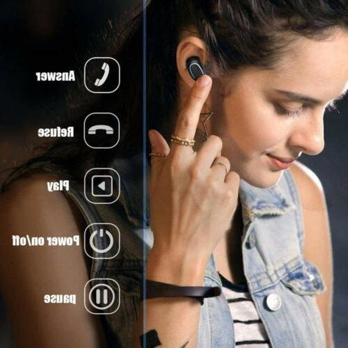 Bluetooth 5.0 Headset Wireless 5D