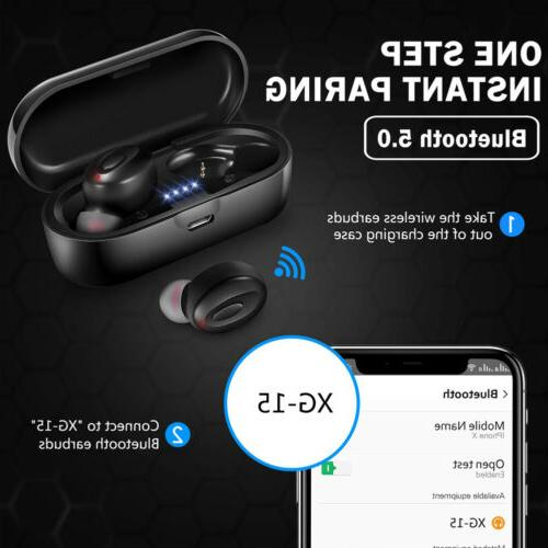 Bluetooth 5.0 Headset Wireless Earphones Earbuds In-Ear