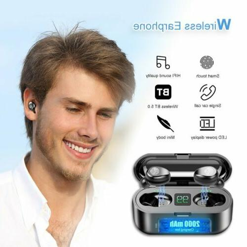 Bluetooth Wireless LED Stereo Earbuds