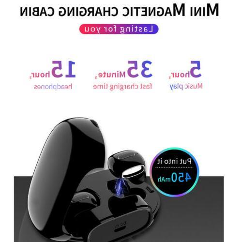 Bluetooth Headset In-Ear Stereo Earphones Earbuds Handsfree Calling