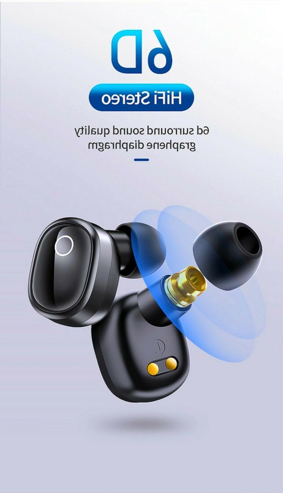 Bluetooth 5.0 Earbuds Sports Headsets Stereo Headphones Waterproof