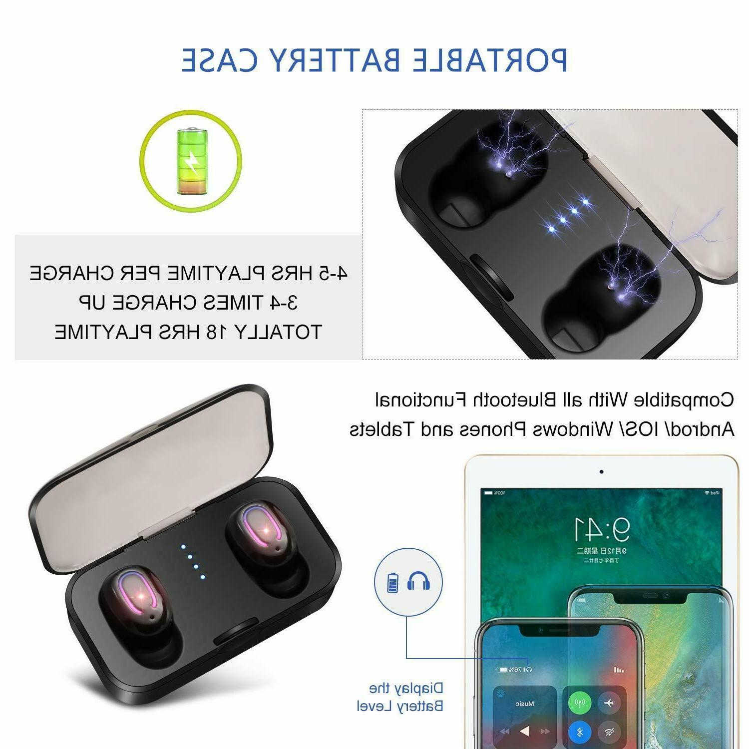 Bluetooth 5.0 Wireless Earbuds Headphones Touch Mini