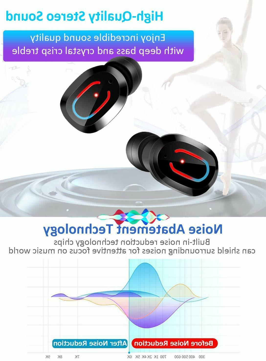 Bluetooth True Wireless Touch Mini Earbuds Headphone Headset Waterproof