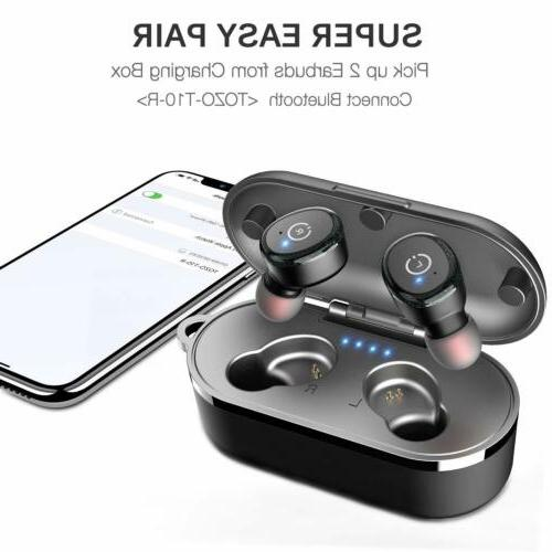 Bluetooth 5.0 Wireless with 【Wireless Charging IPX8 Waterproof
