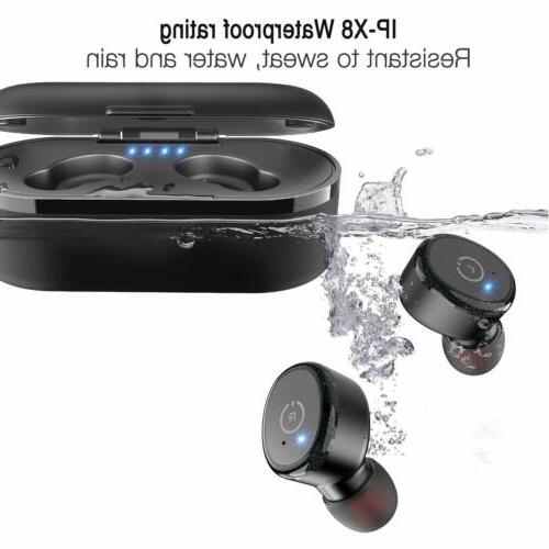 Bluetooth 5.0 Earbuds with 【Wireless IPX8 Waterproof