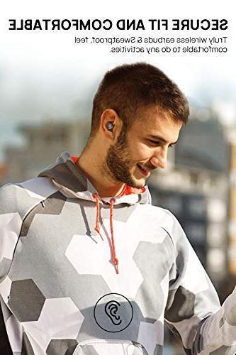 Dudios Earbuds, Zeus Wireless Headphone Sound Mini in-Ear Headset -Black