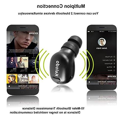 Kelodo Earbud in Ear Earphone Smallest Wireless Invisible for iPhone Samsung Sony Android One