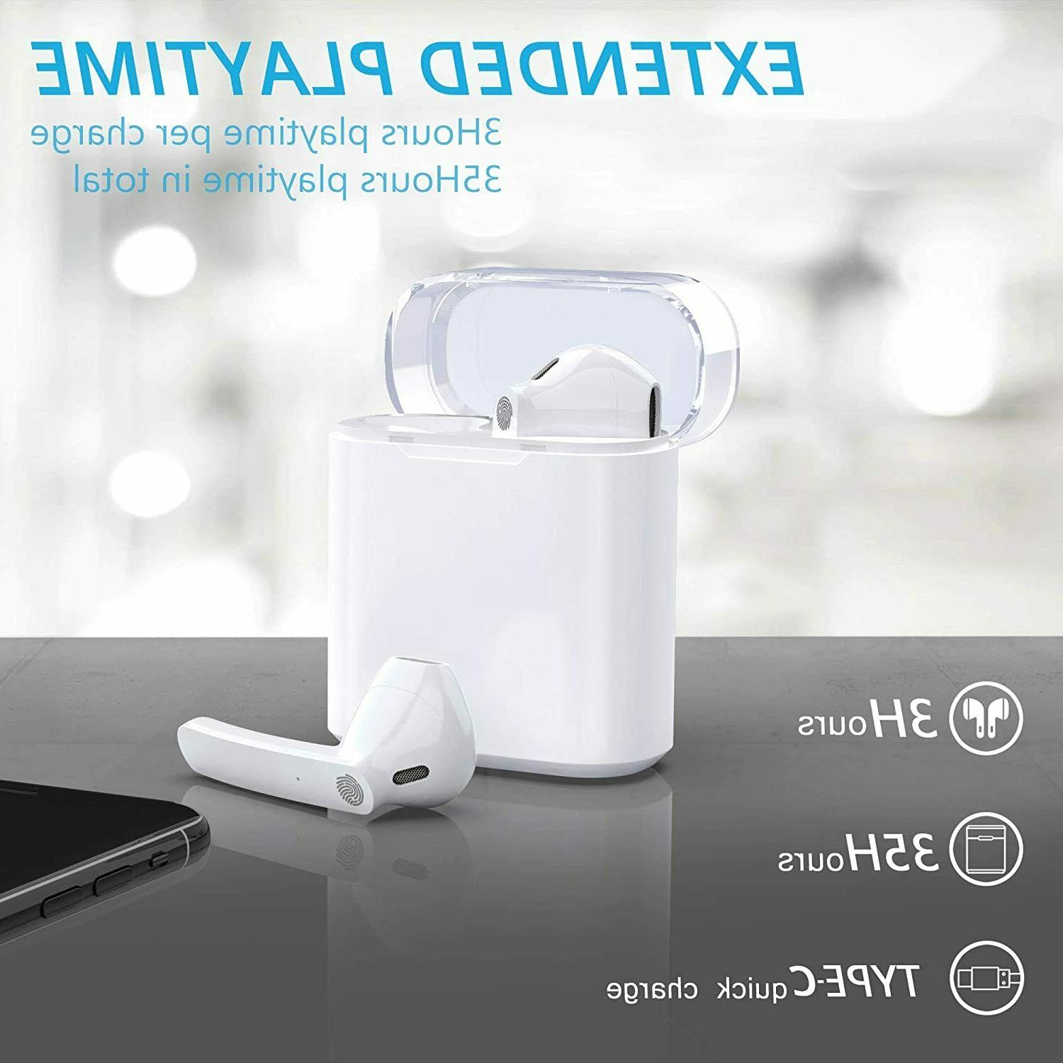 Bluetooth Earbuds, Bluetooth Headphones Wireless 35H Cycle Playtime