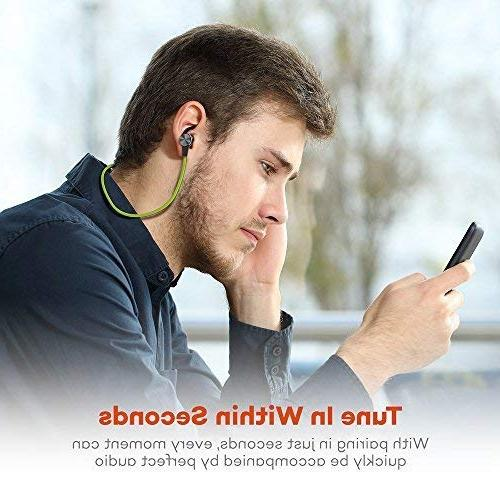 Bluetooth TaoTronics 4.2 Magnetic Fit for Built TT-BH07 Green