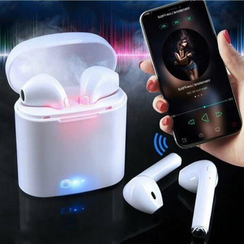 Dual Wireless Bluetooth Earphone Headphone iPhone Samsung Galaxy Pod