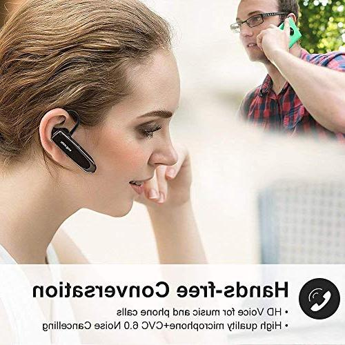 Bluetooth Wireless Handsfree Headset 24 Hrs 60 Days With Cancelling Mic Headset Case Android Samsung Driver