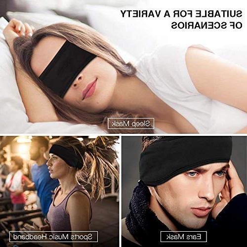 Bluetooth Headband Sleep Headphones, AGPTEK Wireless Headband with Detachable Speaker, Eye Sleeping, Sports, Air Travel, Women Men,