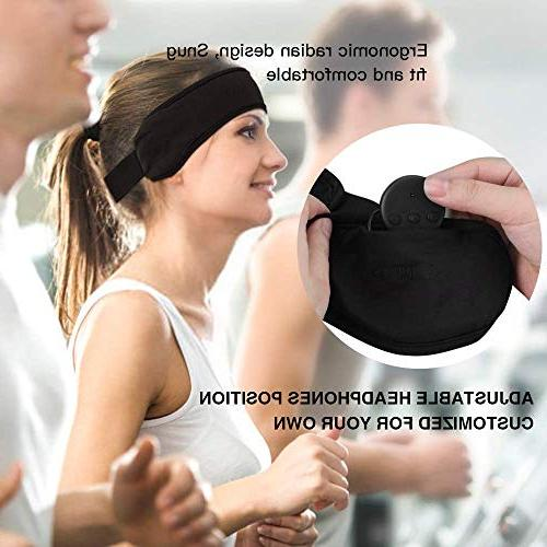 Bluetooth Headband Sleep Headphones, AGPTEK Bluetooth Headband Speaker, for Snoring, Meditation & Relax Women Black