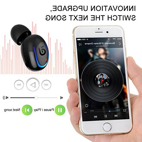 7b733104c3b Bluetooth Headphone, Sport 8 Talking Bluetooth Headset One Piece- Black. Bluetooth  Headphone, Kissral Wireless Sport Talking Time Bluetooth Black