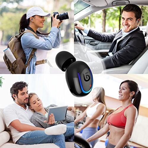 Bluetooth Headphone, Kissral Wireless Sport Talking Time Bluetooth Black