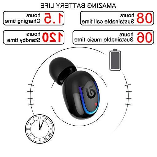 Bluetooth Kissral Sport Talking Time Bluetooth Piece- Black