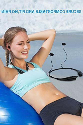 SoundPEATS Bluetooth Headphone Wireless Earphones Mic Lightweight for