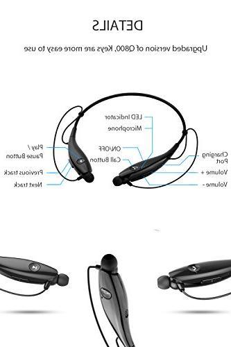 SoundPEATS Bluetooth Wireless Lightweight Bluetooth for